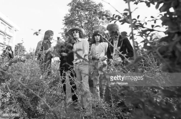 The Rolling Stones group portrait in Copenhagen Denmark September 1970 LR Charlie Watts Keith Richards Mick Jagger Bill Wyman Mick Taylor