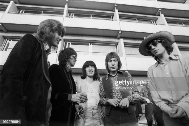 The Rolling Stones group portrait in Copenhagen Denmark September 1970 LR Mick Taylor Keith Richards Bill Wyman Charlie Watts Mick Jagger
