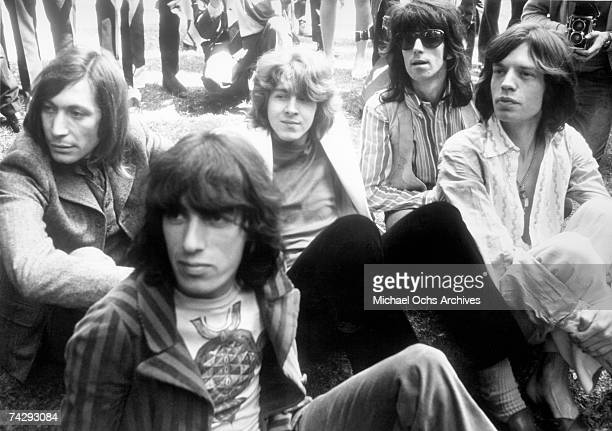 The Rolling Stones hold a press conference in Hyde Park to announce that 20yearold Mick Taylor former lead guitarist of the John Mayall rhythm and...