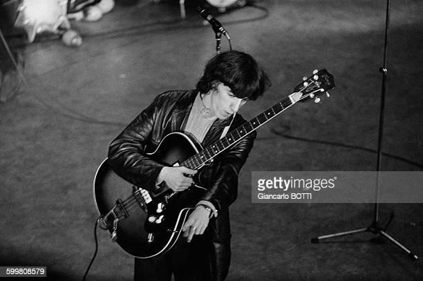 The Rolling Stones in concert at the Olympia music hall in Paris France here bass guitarist Bill Wyman on October 20 1964