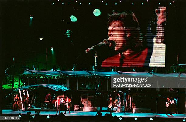 The Rolling Stones on tour in Stockholm Sweden on June 03 1995