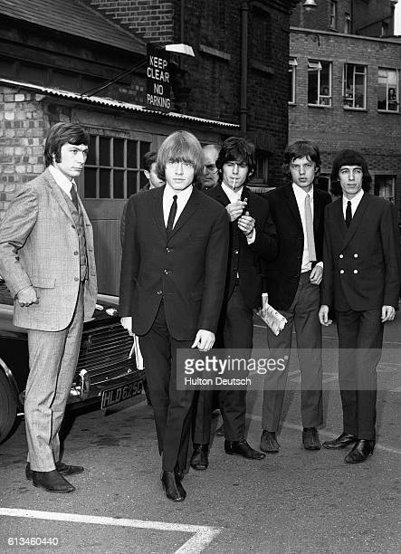 The Rolling Stones outside West Ham Court in London after three members of the band made an appearance over an alleged incident at a Stratford garage...