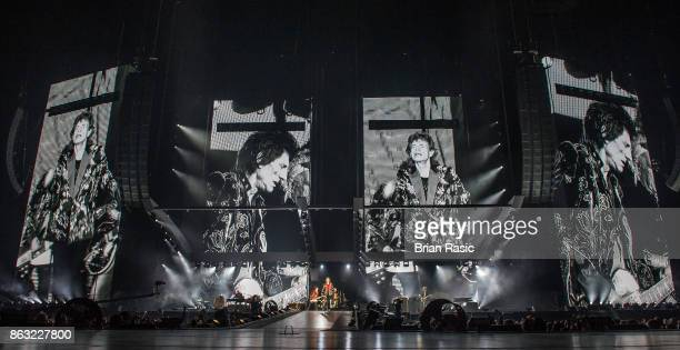 The Rolling Stones perform live on stage at U Arena on October 19 2017 in Nanterre France
