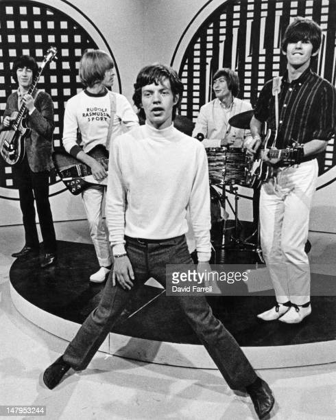 The Rolling Stones perform on the television show 'Thank Your Lucky Stars' at Teddington Studios in London 13th January 1965