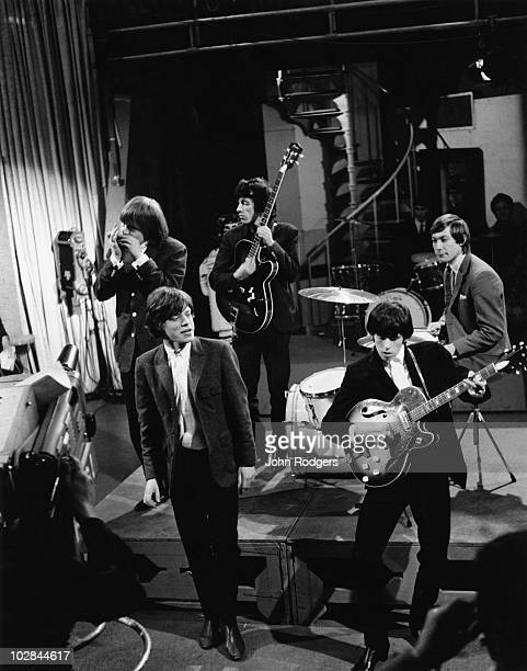 The Rolling Stones perform on TV music programme 'Ready Steady Go' 3rd April 1964