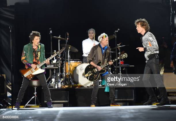 The Rolling Stones performs on the opening night of their European 'No Filter' tour on September 9 2017 in Hamburg Germany