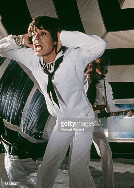 The Rolling Stones pose during the production of their music video for 'It's Only Rock 'n Roll ' in June 1974 in London, England. The video was...