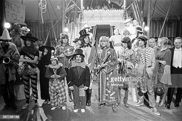 The Rolling Stones Rock 'n' Roll Circus TV special Intertel Studios Stonebridge Park 11 December 1968 LR Pete Townsend John Lennon Yoko Ono Keith...
