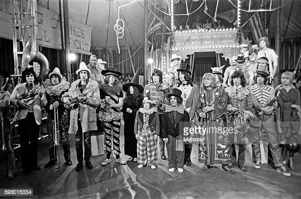The Rolling Stones Rock 'n' Roll Circus TV special Intertel Studios Stonebridge Park 11 December 1968 LR Keith Moon Pete Townsend John Lennon Yoko...