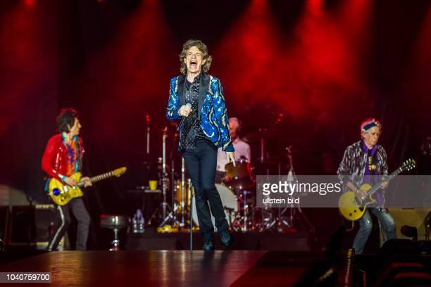 The Rolling Stones Stones No FilterTour Mick Jagger Keith Richards Ron Wood und Charlie Watts am 09 Oktober 2017 in der EspritArena Düsseldorf