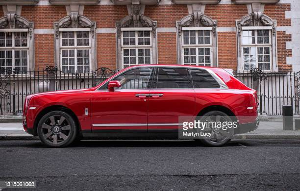 The Rolls Royce Cullinan in Mayfair, London. The Cullinan is the first SUV to be launched by the Rolls-Royce marque, and is also the brand's first...
