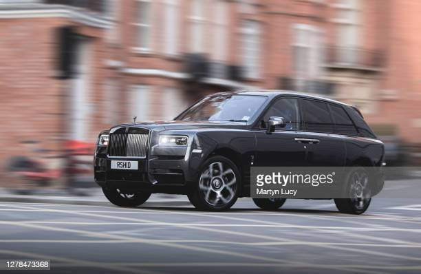 The Rolls Royce Cullinan seen in Knightsbridge, London. The Cullinan is the first SUV built by Rolls Royce and offers countless options for...