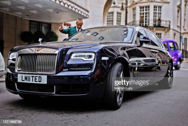 The Rolls Royce Ghost seen outside the Dorchester Hotel in Mayfair London The Ghost name was first attached to RollsRoyce in 1907 Needing a PR stunt...