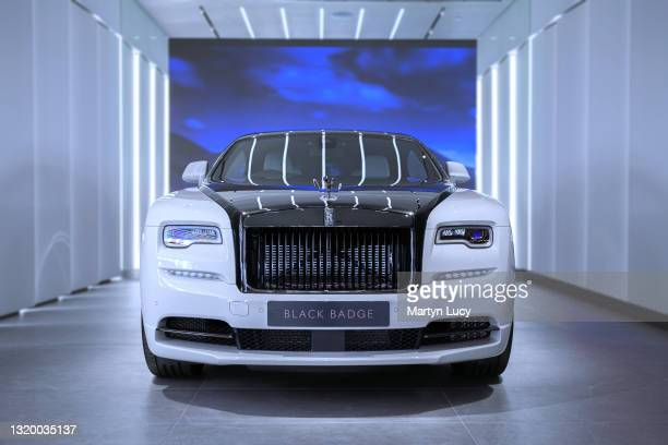 The Rolls Royce Wraith Black Badge seen at HR Owen Rolls Royce in Mayfair, London. HR Owen Rolls Royce recently opened a brand new showroom in...