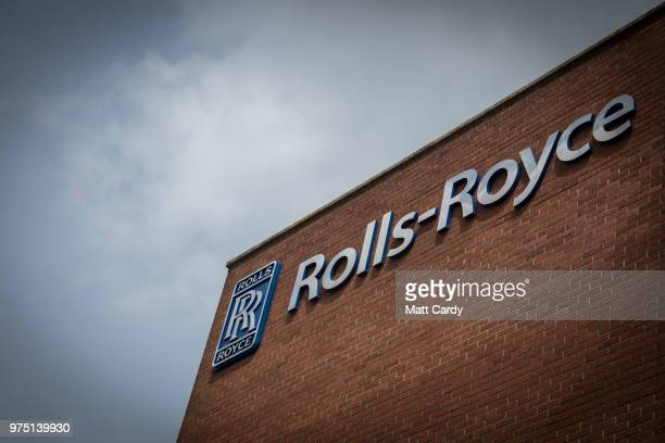 The RollsRoyce logo displayed on their plant in Filton is pictured on June 15 2018 in Bristol England RollsRoyce announced plans this week to axe...