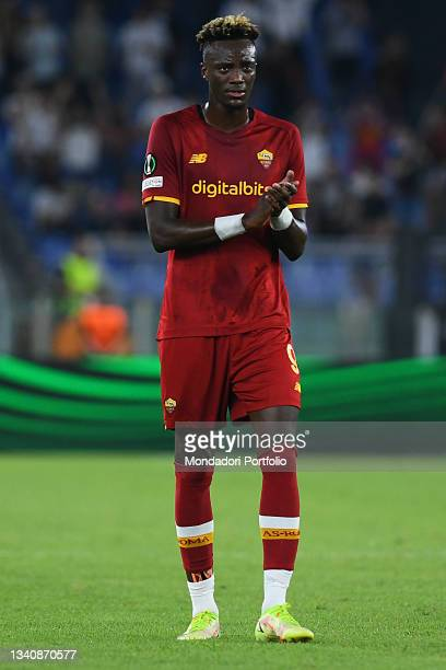 The Roma footballer Tammy Abraham during the Roma-CSKA Sofia Conference League match at the stadio Olimpico. Rome , September 16th, 2021