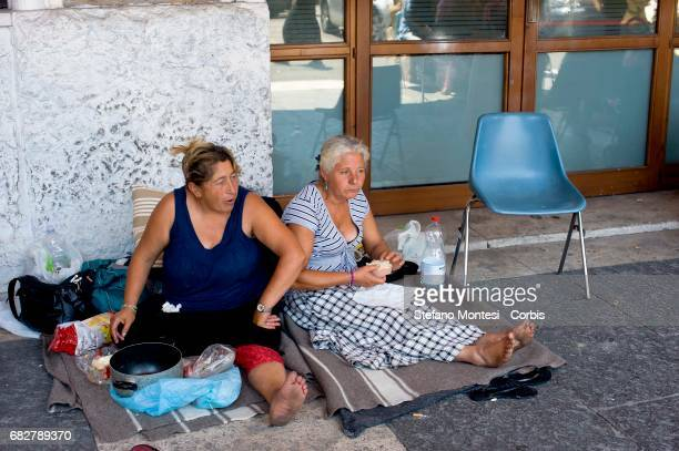 The Roma of Roma camp in Val d'Ala the Monte Sacro district evacuated July 9 by the municipal police of Rome and remained without a home they are...