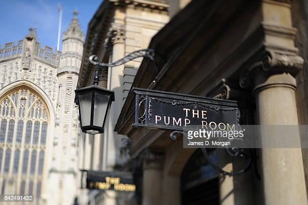 The Roman Baths and Pump Room, on July 12, 2014 in Bath Spa, England.