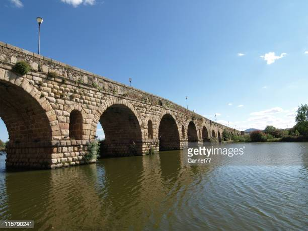 The Roman Bridge at Merida, Spain