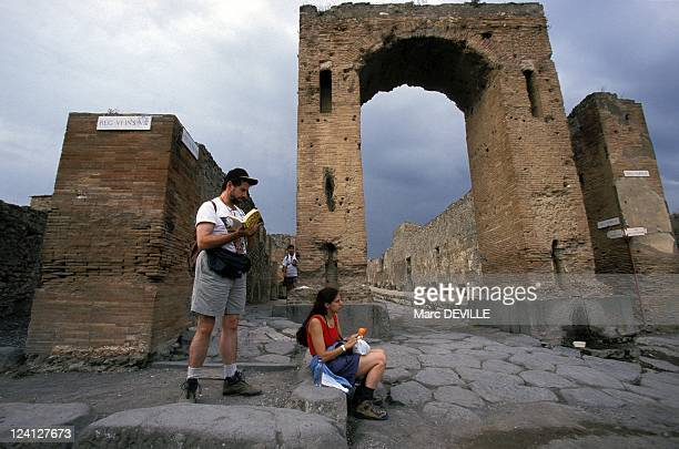 The Roman City of Pompei Italy In October 1997 The arch of Caligula