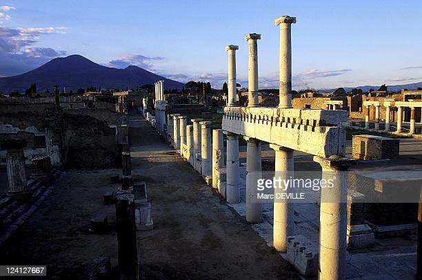 The Roman City of Pompei Italy In October 1997 The forum