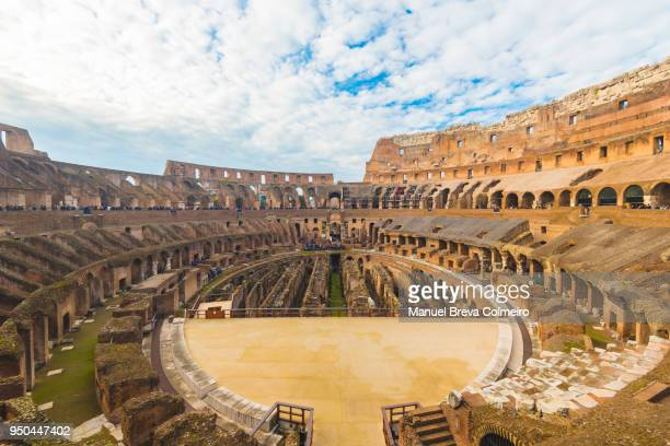 the roman colisseum - colosseum stock photos and pictures