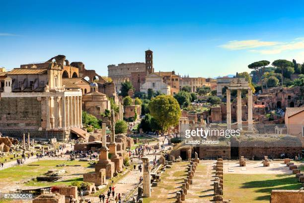 The Roman Forum is seen at the Capitoline Hill on October 31 2017 in Rome Italy Rome is one of the most popular tourist destinations in the World