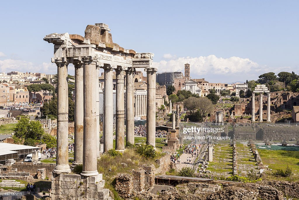 The Roman Forum or Foro Romano, Rome. : Stock Photo