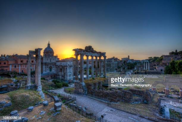 the roman forum - ancient stock pictures, royalty-free photos & images