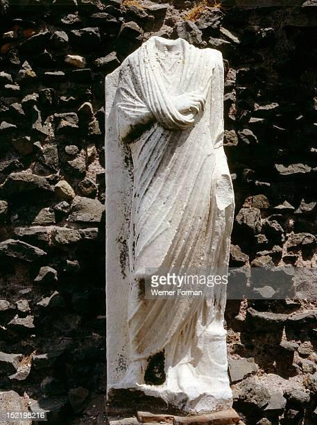 The Roman Forum Statue of a Vestal Virgin in the House of the Vestal Virgins Italy Roman