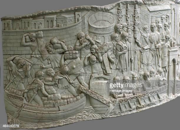 The Roman galleys Relief detail of Trajan's Column 1st2nd century Found in the collection of the Museum für Antike Schifffahrt Mainz
