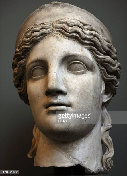 The Roman Goddess Juno Bust First half of 2nd century AC Marble Carlsberg Glyptotek Museum Copenhagen Denmark