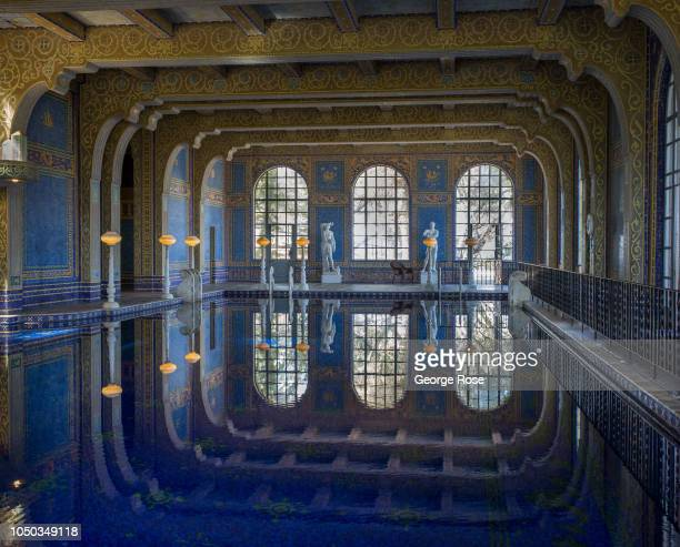The Roman Indoor Pool at Hearst Castle is viewed on October 4 in San Simeon California Hearst Castle built by newspaper publisher William Randolph...