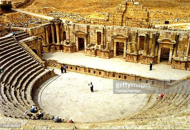 The Roman northern amphitheatre in JerashBeautifully preserved Roman ruins