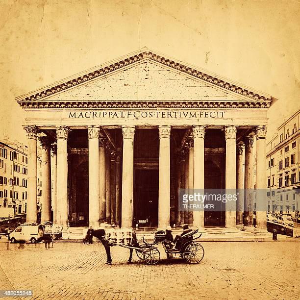 il pantheon romano - pantheon roma foto e immagini stock