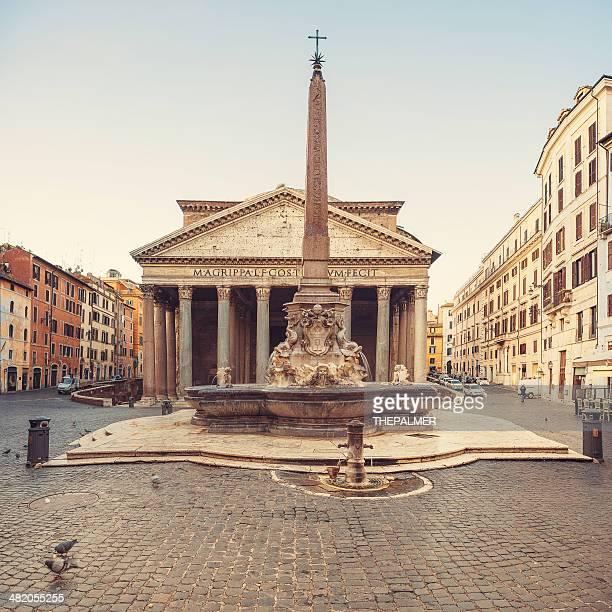 the roman pantheon - pantheon rome stock photos and pictures