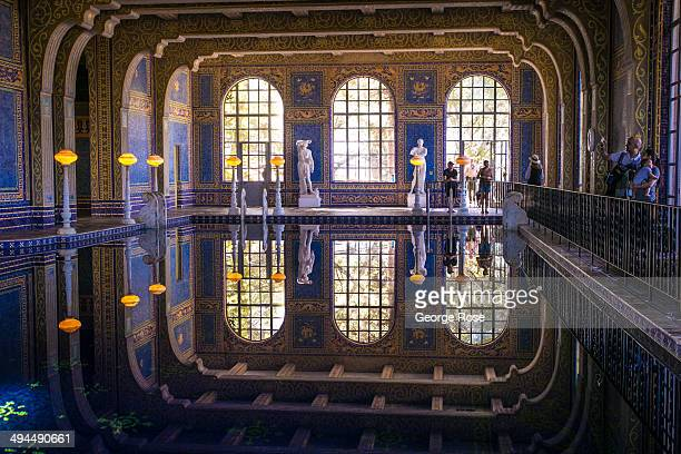 The Roman Pool at Hearst Castle is viewed on May 11 in San Simeon California Hearst Castle built by newspaper publisher William Randolph Hearst and...
