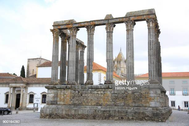 The Roman Temple of Diana, Historic Centre of Evora, UNESCO World Heritage Site, Alentejo, Portugal
