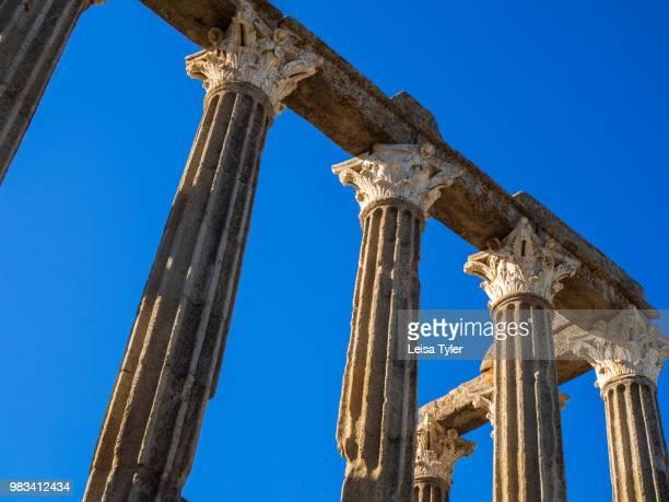 ROMANO EVORA ALENTEJO PORTUGAL The Roman Temple of Évora also known as the Templo de Diana an ancient Roman era temple in the town of Evora Portugal