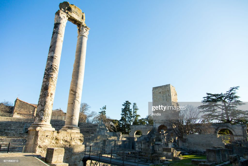 The Roman Theatre in Arles (south-eastern France).