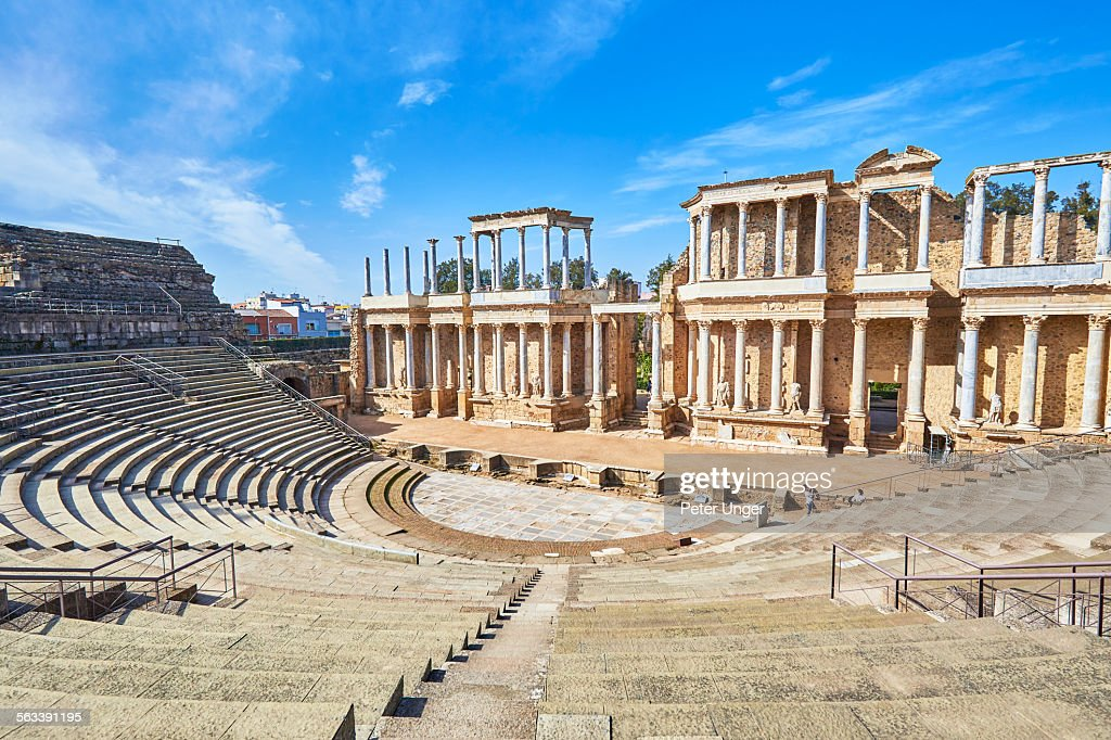 The Roman Theatre in Merida : Stock Photo