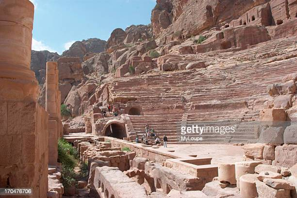 The Roman Theatre in the lost city of Petra Jordan