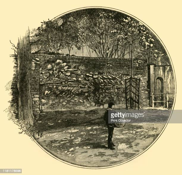 The Roman Wall at Dorchester' 1898 Dorchester defensive walls built around the Roman town of Durnovaria in AD 300 From Our Own Country Volume V...