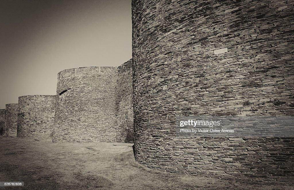 The Roman Walls of Lugo : Foto de stock