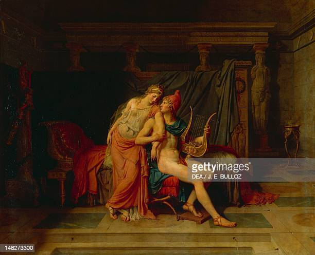 The Romance of Helen and Paris by JacquesLouis David oil on canvas 146x181 cm Paris Musée Du Louvre