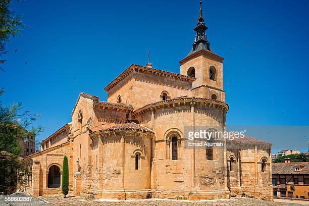 the romanesque church of san millan, segovia - segovia stock pictures, royalty-free photos & images