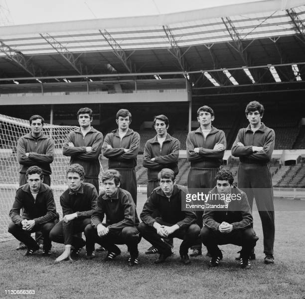 The Romania national football team at Wembley Stadium for an international friendly match against England, London, UK, 15th January 1969.