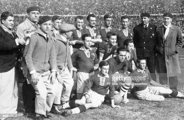 The Romanian team before their FIFA World Cup match against Uruguay at the Estadio Centenario in Montevideo 21st July 1930 Uruguay won 40