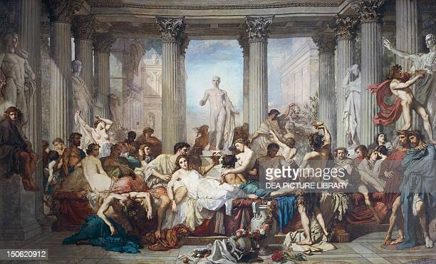 The Romans of the Decadence by Thomas Couture oil on canvas 466x775 cm Ancient Rome