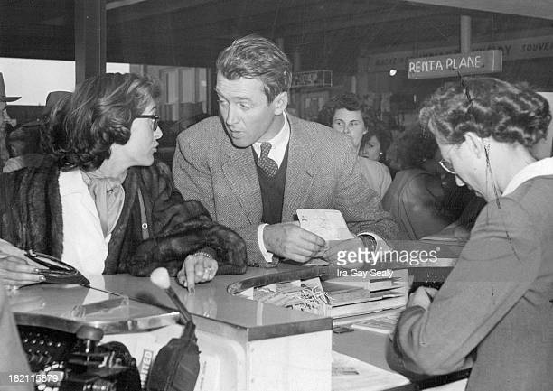 APR 5 1949 MAY 22 1949 The romantic rumors that have buzzed around Gloria Hatrick McLean and film star James Stewart took a new lease on life Monday...